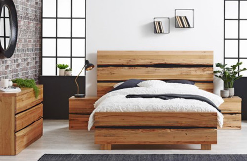 DAINTREE KING 4 PIECE (TALLBOY) BEDROOM SUITE - NATURAL