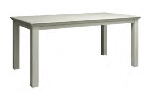DELAN 1.8M FIXED DINING TABLE - 780(H) x 1800(W) - ANTIQUE WHITE