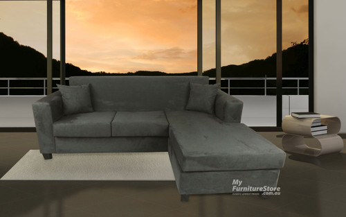 MARTHA (MODEL-3-1-18-25) 3 SEATER CHAISE - MICRO SUEDE - CHOICE OF COLOURS