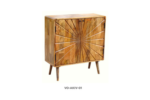 AKIVA SIDEBOARD/BUFFET WITH 2 DOORS - NATURAL