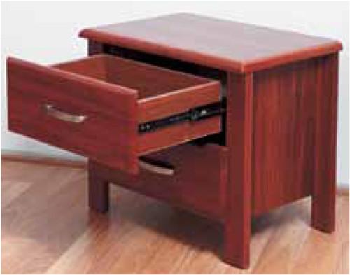 BISON 2 DRAWER BEDSIDE TABLE - JARRAH