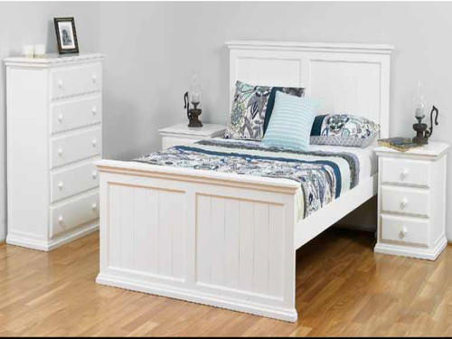 DOUBLE ANNISTON BED - ARCTIC