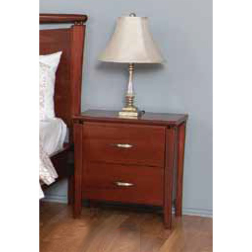 CLANTON 2 DRAWER BEDSIDE TABLE - 600(H) x 570(W) - JARRAH