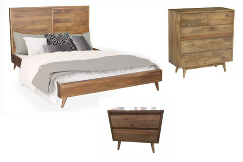 AUTUMN KING 4 PIECE TALLBOY BEDROOM SUITE