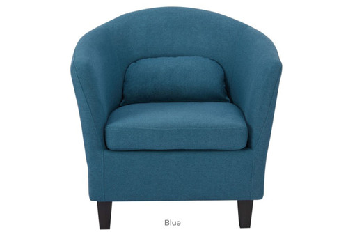 BENNI FABRIC UPHOLSTERED ARMCHAIR -  BLUE