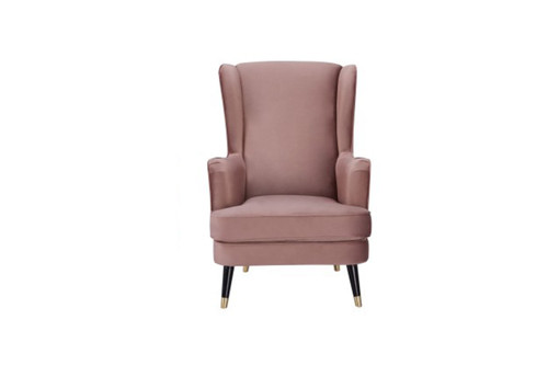 CAPE FABRIC UPHOLSTERED ARMCHAIR -  BLUSH