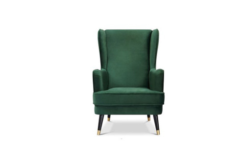 CAPE FABRIC UPHOLSTERED ARMCHAIR - GREEN