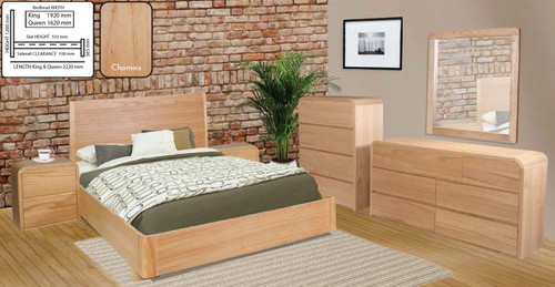 ANDRE QUEEN 6 PIECE (THE LOT) BEDROOM SUITE - CHAMOIX