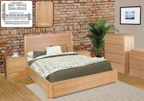 ANDRE KING 3 PIECE (BEDSIDE) BEDROOM SUITE - CHAMOIX