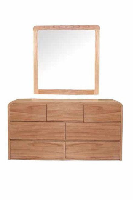 ANDRE DRESSING TABLE WITH MIRROR - CHAMOIX