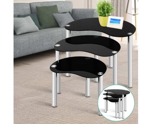 BLEDSOE NEST OF TABLES - BLACK