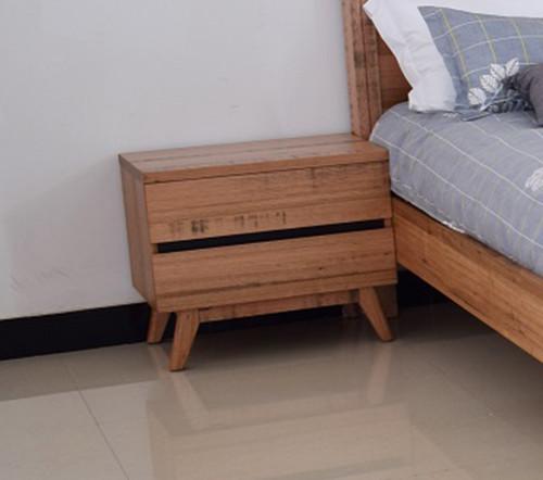 BIRMINGHAM 2 DRAWER BEDSIDE TABLE - RUSTIC OAK
