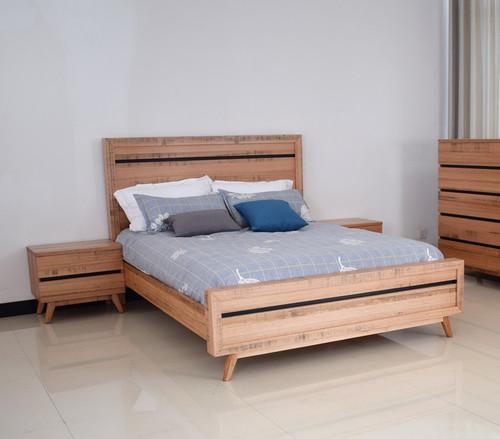 BIRMINGHAM KING 3 PIECE (BEDSIDE) BEDROOM SUITE - RUSTIC OAK