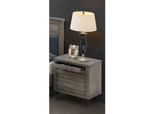COLORADO 2 DRAWER BEDSIDE TABLE - AS PICTURED