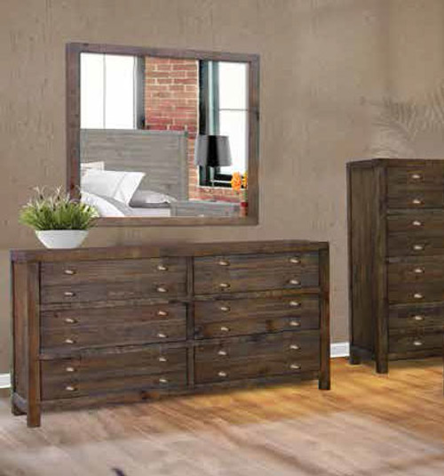 AMANDA DRESSING TABLE WITH MIRROR - FOSSIL