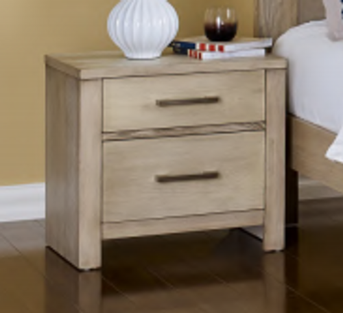 MICHIGAN 2 DRAWER BEDSIDE TABLE - AS PICTURED