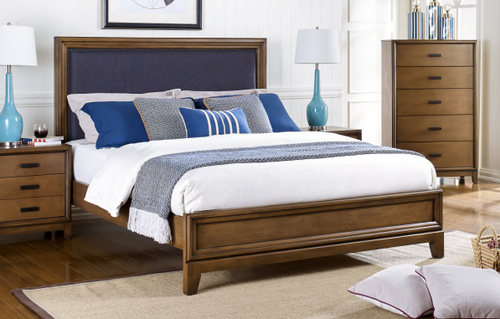CLOVIS KING 4 PIECE (TALLBOY) BEDROOM SUITE - AS PICTURED
