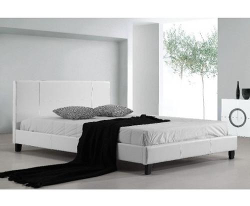 DOUBLE MORRILTON LEATHERETTE BED FRAME - WHITE