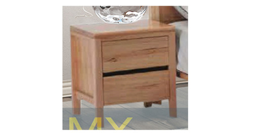 ARKANSAS 2 DRAWER BEDSIDE TABLE - AS PICTURED