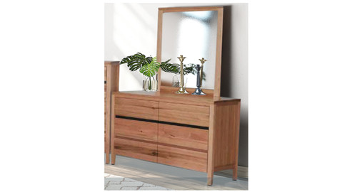 ARKANSAS 6 DRAWER DRESSER WITH MIRROR - AS PICTURED