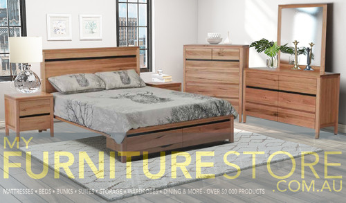 ARKANSAS KING 4 PIECE (TALLBOY) BEDROOM SUITE - AS PICTURED