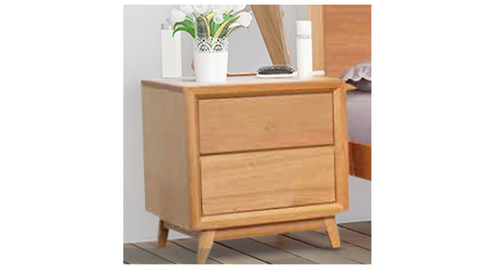 BERKELEY 2 DRAWER BEDSIDE TABLE - AS PICTURED