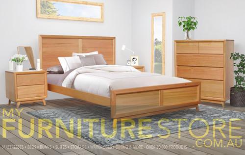 BERKELEY QUEEN 4 PIECE (TALLBOY) BEDROOM SUITE - AS PICTURED