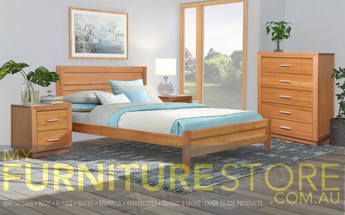DOUBLE ALAMEDA TIMBER BED - AS PICTURED