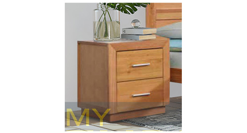ALAMEDA 2 DRAWER BEDSIDE TABLE - AS PICTURED