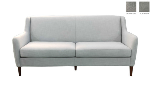 CHAVRON 2 SEATER SOFA - CHARCOAL OR PLATINUM