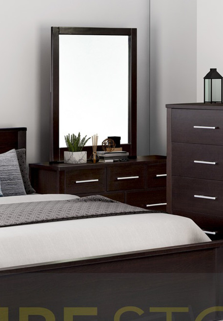 AMAZING 7 DRAWER DRESSING TABLE WITH MIRROR (MODEL:3-18-5) - LIGHT OAK OR CHOCOLATE