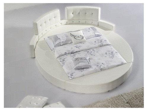KING FRANCE ROUND LEATHERETTE BED (MODEL:A619) - ASSORTED COLORS
