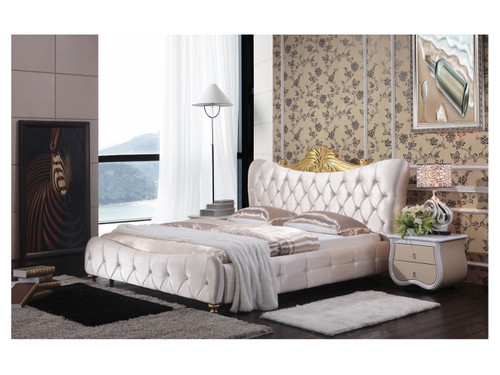 KING DYLAN LEATHERETTE BED (MODEL:A06-1) - ASSORTED COLORS