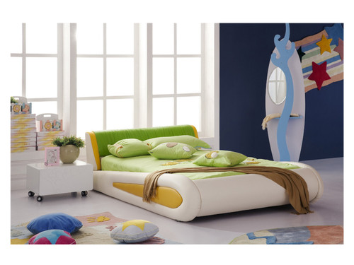 SINGLE KEITH LEATHERETTE BED (MODEL:A647) - ASSORTED COLORS