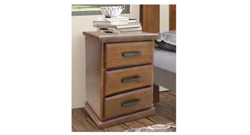 MIRACLES 3 DRAWER BEDSIDE TABLE - AS PICTURED