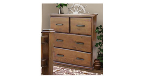 MIRACLES 4 DRAWERS TOP SPLIT TALLBOY - AS PICTURED