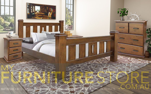 MIRACLES QUEEN 4 PIECE (TALLBOY) BEDROOM SUITE - AS PICTURED