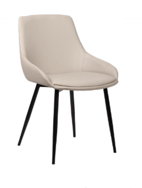 COMO LEATHERETTE DINING CHAIR - LIGHT GREY