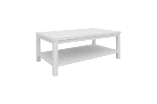 CLEMENTI COFFEE TABLE (KD) - BRUSHED WHITE