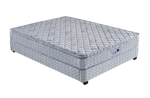 DOUBLE JUSTICE SINGLE  SIDED BOX TOP WITH BONNELL SPRING MATTRESS  - MEDIUM FIRM