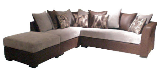 BERKLEY 2 SEATER CORNER SUITE WITH OTTOMAN