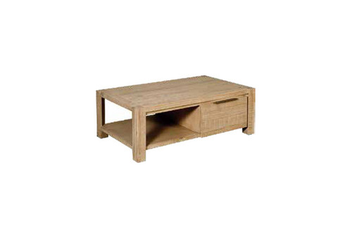 BALLINA COFFEE TABLE WITH DRAWER WITH HANDLES - EURO BEECH