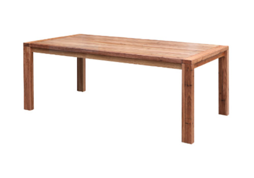 BALDRINE DINING TABLE 2100(W) - WORMY CHESTNUT