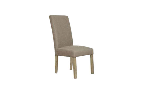 COOPER FABRIC DINING CHAIR - BRISTLE / AGED OAK