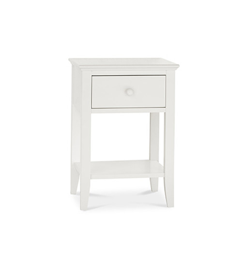 ALTAIR NIGHT STAND WITH ONE DRAWER - WHITE