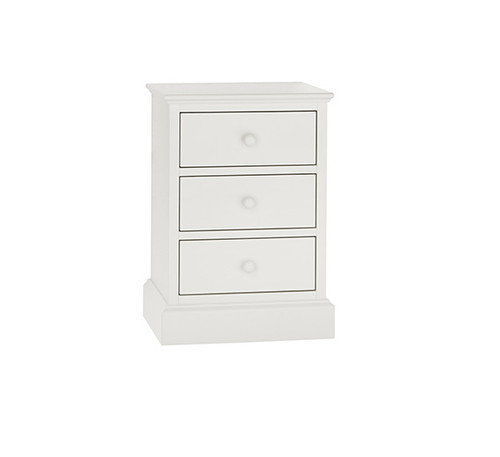 ALTAIR NIGHT STAND WITH THREE DRAWER - WHITE