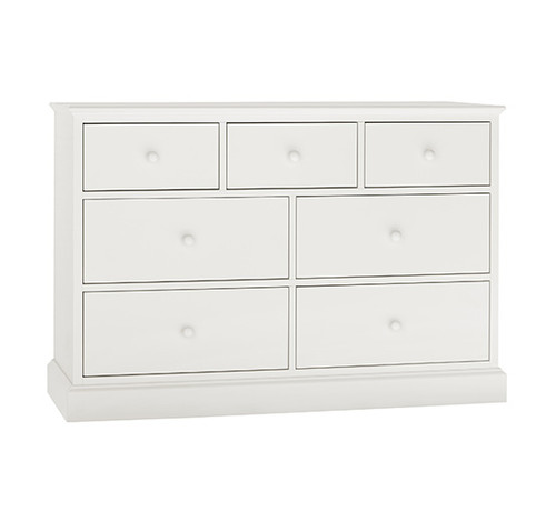 ALTAIR 7 DRAWER SPLIT TOP LOWBOY - WHITE