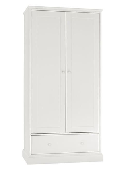 ALTAIR 2 DOOR/1 DRAWER WARDROBE - WHITE