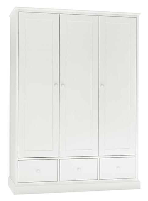 ALTAIR 3 DOOR/3 DRAWER WARDROBE - WHITE