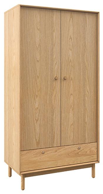 ADIOLA  2 DOOR/1 DRAWER WARDROBE - OAK